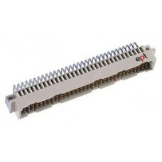 DIN41612 Male Type C PCB Connector • 64 positions in Rows A,C • Right Angled PCB