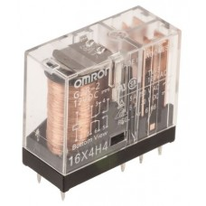 Omron DPDT Latching Relay PCB Mount, 24V dc Coil